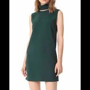 Theory Crepe Slit Collar Mini Dress